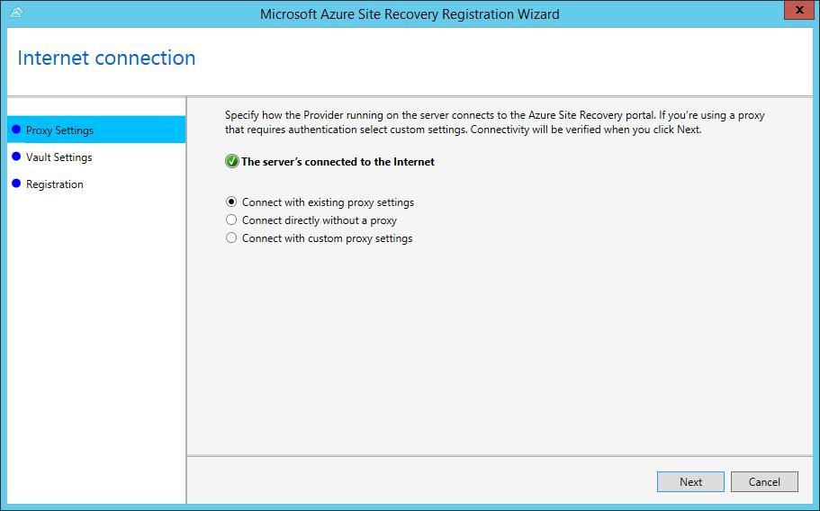 Microsoft Azure Site Recovery : Hyper-V to Microsoft Azure